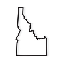 Black Outline Of Idaho Map- Ve...