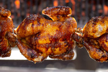 Roast Chicken On The BBQ  In Germany ,2019