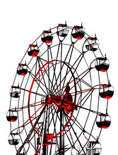 Stylized Black And Red Ferris ...