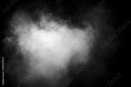 Fototapety, obrazy: abstract white smoke or fog on dark background, copy space for your text