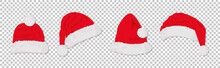 Santa Hats Red Colored Set. Wi...