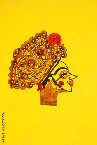 traditional Chinese paper-cut works Canvas Print