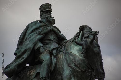 Obraz na plátně escultura del militar Martinez Campos en el parque del Retiro