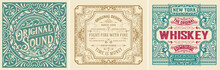 Set Of 3 Vintage Labels Templa...
