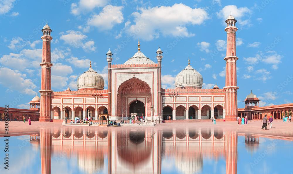 Fototapety, obrazy: Jama Masjid, Old town of Delhi, India