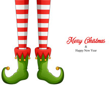 Elf Legs In Green Shoes Isolat...
