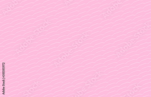 Fotografie, Obraz  simple pink pastel color background, modern pink wallpaper, art line shape zig z