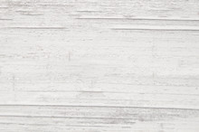 White Old Wooden Fence. Wood P...