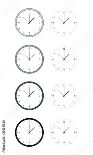 Reloj analógico Wallpaper Mural