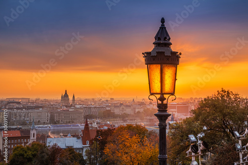 Budapest, Hungary - Colorful autumn morning at Budapest Wallpaper Mural