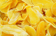 Dried Mango Background. Candie...
