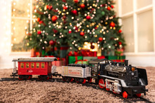 Christmas Toy Train With Wagon...