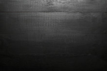 Black Natural Wooden Texture. Abstract Background, Dark Backdrop