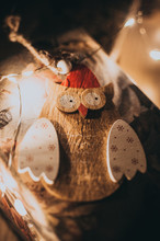 Wooden Owl Christmas Garland L...