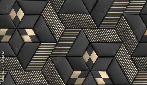 tapeta-3d-z-plytek-w-miekkiej-geometrii-3d