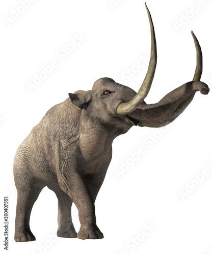 Fototapeta The Columbian Mammoth is an extinct animal that inhabited warmer regions of North America during the Pleistocene
