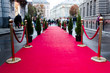 canvas print picture - Red Carpet for cinema awards and Fashion Awards ceremony for celebrities persons