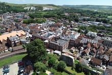 Aerial Views Of Historic Lewes, East Sussex.