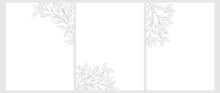 Set Of 3 Tree Twigs Vector Ill...