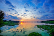 Sun On The Horizon At Sunset O...