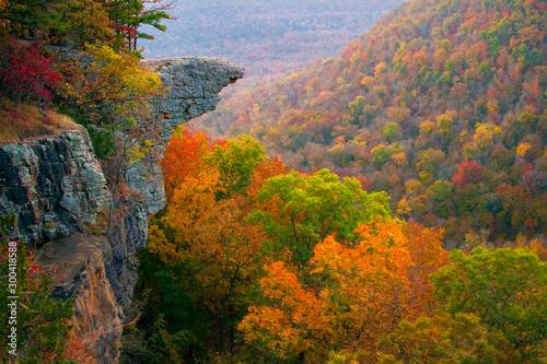 Photo Hawksbill Crag Sunrise in the Fall