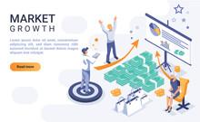 Market Growth Landing Page Vec...