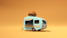 Vintage Food Truck 3D Illustra...