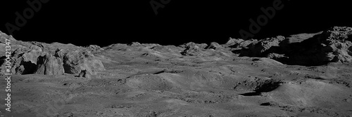 Fotografie, Tablou Moon surface, lunar landscape