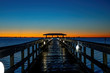 Dawn at the pier in Florida