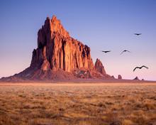 Shiprock New Mexico Southwestern Desert Landscape