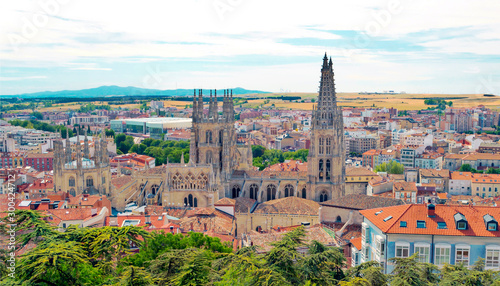 Foto op Canvas Noord Europa City of Burgos in the north of Spain in a cloudy day