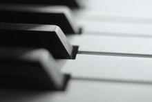 Keyboard Piano Black And White...