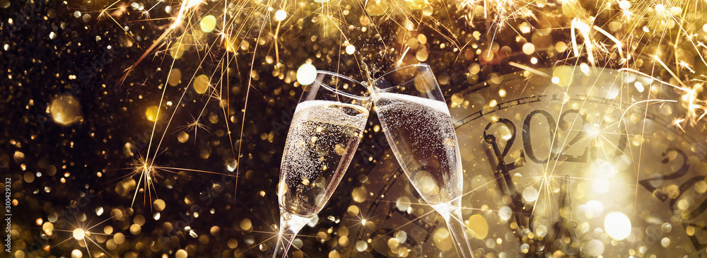 Fototapety, obrazy: New Year's Eve 2020 Celebration Background