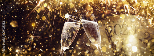 New Year's Eve 2020 Celebration Background Fototapet