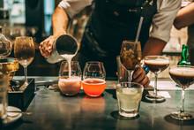 Bartender Making Cocktails At ...
