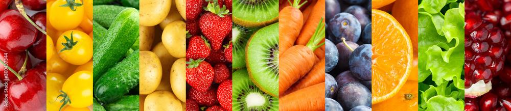 Obraz Fruits and vegetables. Background fototapeta, plakat