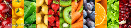 Fotografia Fruits and vegetables. Background