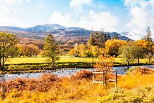 Fotografie, Tablou  Autumn in Glen Strathfarrar in the Scottish Highlands