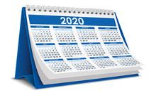 Blue 2020 Calendar