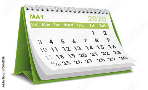 May 2020 Calendar Wallpaper Mural