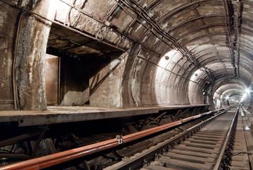 Fototapeta na wymiar Subway tunnel for metropolitan trains