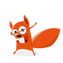 Funny Cartoon Squirrel In Dab ...