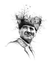Ataturk Illustration, Leader O...