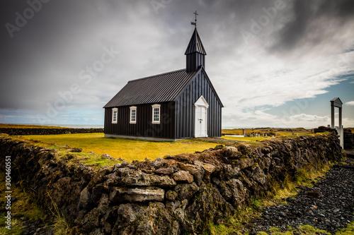 Fényképezés  The Black Church of Budir in Iceland
