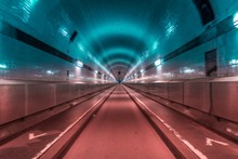 Famous Old Elbtunnel With A Di...