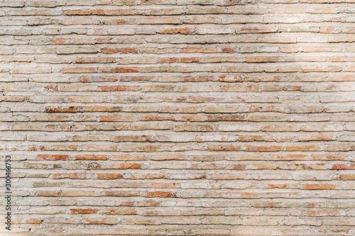 Fototapeta cegła  old-brick-wall-background-wide-panorama-of-masonry