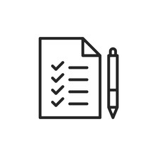 Checklist Icon. Document With ...