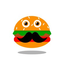 Mr Burger Icon Vector Illustra...