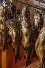 Fresh Smoked Fish In A Smokeho...