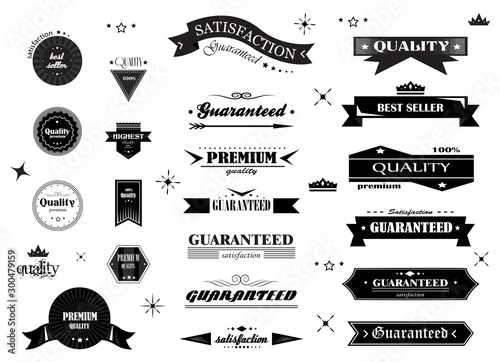 Fotografering Retro Banner And Ribbon Design Elements